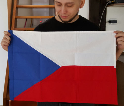 Jonathas and the Czech flag